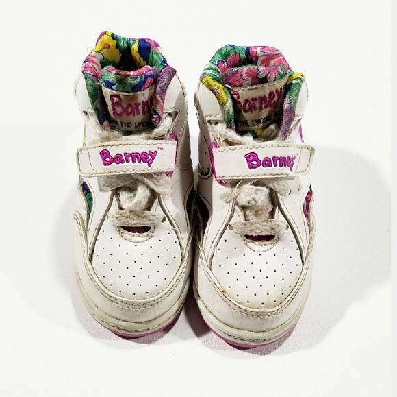 Vintage Shoes Vtg 1993 Barney The Dinosaur Velcro